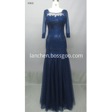 Noble 3/4 Sleeve Lace Tulle Evening Gowns