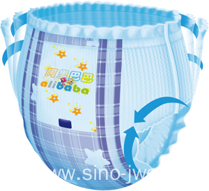 2015 Semi Servo Pull-up Baby Diaper Production Line