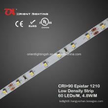 UL High CRI Epistar 1210 Low Density LED Strip 4000k LED Light