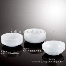 Boa qualidade chinesa xícara de sopa de porcelana branca