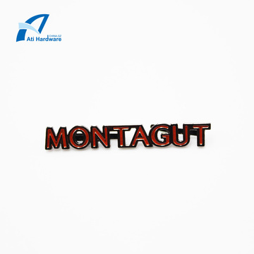 Custom Decorative Letter Logo Metal Label for Handbag
