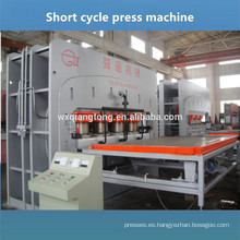 V-ranura HDF tablero parquet laminado de la prensa de la máquina