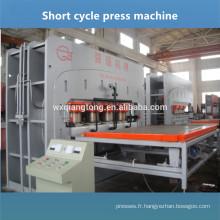 Plancher en V en HDF parquet stratifié machine à presser