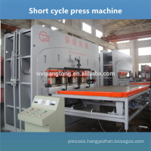 V-groove HDF board parquet laminate flooring press machine