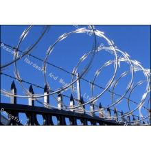 Galvanized Concertina Razor Barbed Wire /Barb Tape