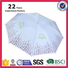 Салон красоты Китай Производитель дешевые пользовательские печать солнце и дождь зонтик Леди 8 панелей изготовленный на заказ печатание складывая Умбрела