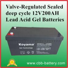Valve-Regulated Sealed Deep Cycle 12V200ah Lead Acid Gel Batteries