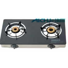 2 Burners Tempered Glass Gas Stove