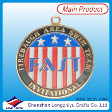 Barato Custom Round Coin Shape Painting America Award Medal Maker
