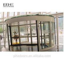 Коммерческие стеклянные входные вращающиеся двери