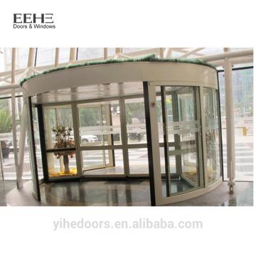 Portas giratórias de entrada de vidro comercial