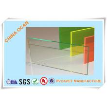 Hoja de PVC de alta calidad transparente de doblez de 3.0 mm