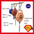 SRL-6 Wire Cable com gancho giratório de aço 6M Self Retracting Lifeline