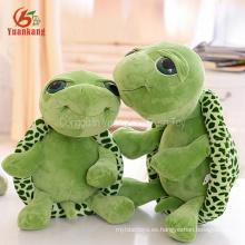 Navidad al por mayor coreano lindo grandes ojos verde rellenos mar tortugas animales muñeca larga pierna mini tortuga suave juguetes de peluche