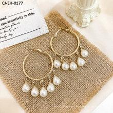 New Pearl Long Earring Fashion Wholesale Sweet Eardrop Personality Simple Earring