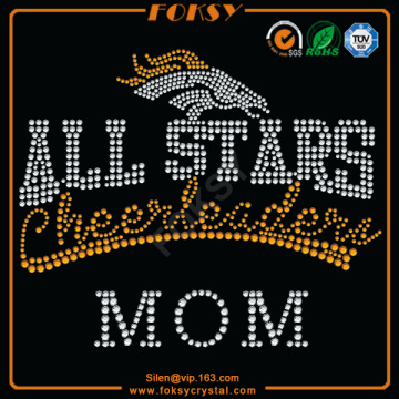 Baseball Mom rhinestone iron on transfers for t shirts