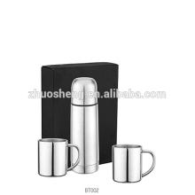 Edelstahl-Vakuum-Flachmann Geschenk-Set / Kaffee Becher Geschenkset