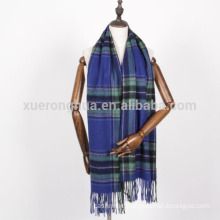 large size cashmere scarf in plaid