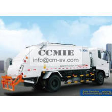 PLC Rear Loader Automated Garbage Trucks , Self Compress Wa