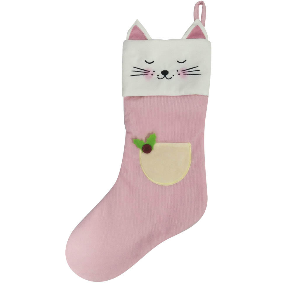 3d Christmas Stocking With Cute Animals Shape