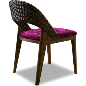 Modern garden rattan dining chair