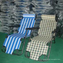 Cadeira de gravidade zero e curvatura de praia de luxo popular e elegante