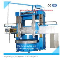 China Torno torreta doble columna vertical para la venta con el mejor precio en stock ofrecido por la fabricación de torno vertical grande Torreta