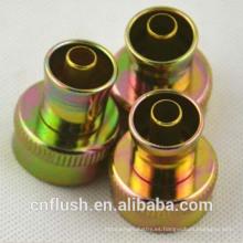 Venta caliente de alta calidad de estampado de metal y mecanizado de precisión de diferentes manguera conector de metal femenino