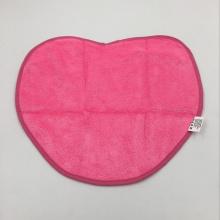 toalha de praia de micro fibra de coração vermelho