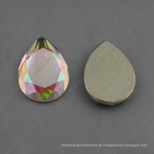 Pedras da jóia da gota Pedras da parte traseira lisa (DZ-1023)