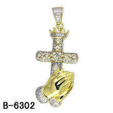 925 Серебряный Micro Настройка Men'charm родий / Желтое золото покрытия.
