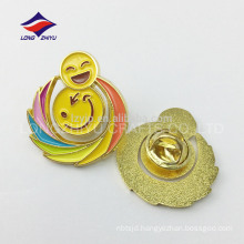 Funny colorful smile face cute hollowing badge