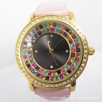 2014 Factory OEM Fashion Women′s New Style Diamante Watch
