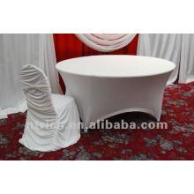 usine de couverture de chaise universelle, CTS785, style plissé, 200GSM meilleur tissu lycra