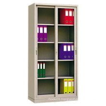 Two Sliding Glass Doors Office File Metal Storage Cabinet