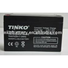 del fabricante experimentado en shenzhen 6v 7.0ah batería de plomo sellada