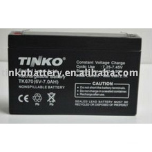 from experienced manufacturer in shenzhen 6v 7.0ah sealed lead acid battery