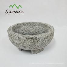 Steinküchengeschirr Mörser und Pistill Granit molcajete
