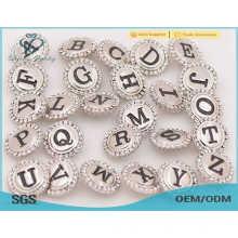 Новые кнопки серебряного металла прибытия прибытия, кристалл кнопки оснастки кнопки