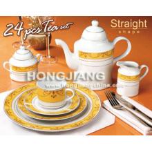 Porcelain 24pcs Tea Set (66208#)