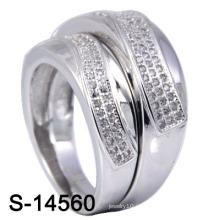 925 anillos de parejas de joyería de plata de moda (S-14560)