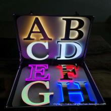 High quality 3d  led sign letter lighting metal letters sign for all kinds samples