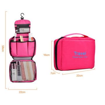 Custom plain travel makeup bag