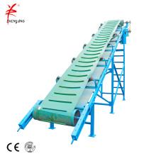 Incline mobile grain loading belt conveyor