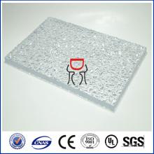 Zhongding ISO SGS CE approuvé feuille de polycarbonate en relief solide