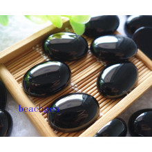 Jewelry Parts-Natural Black Onyx Cabochon