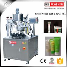 Máquina de llenado y sellado de tubos de pasta de avellana