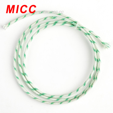 2*0.8mm type k thick double fiberglass lapped thermocouple cable