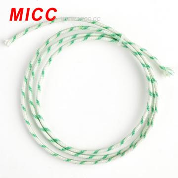 2 * 0,8 mm tipo k espessura dupla fibra de vidro dobrado cabo termopar