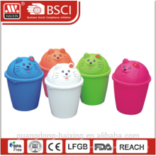 HaiXing most practical plastic waste bin with cat pattern 8L